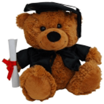 Graduation Bear 23cm Large Cap 'Bear Jelly' - Clearance Item