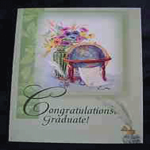 Graduation Card - Spring Green