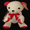 Message Bear 46cm - Red